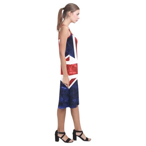 Grunge Union Jack Flag Alcestis Slip Dress (Model D05)