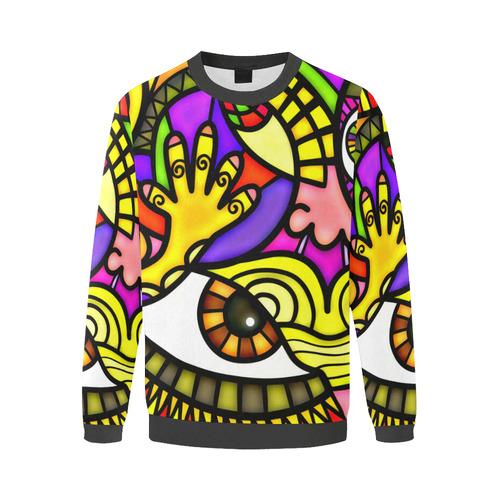 Lonely Without You Men's Oversized Fleece Crew Sweatshirt/Large Size(Model H18)