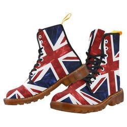 Grunge Union Jack Flag Martin Boots For Women Model 1203H