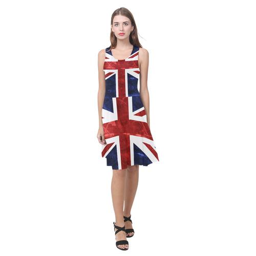 Grunge Union Jack Flag Atalanta Casual Sundress(Model D04)