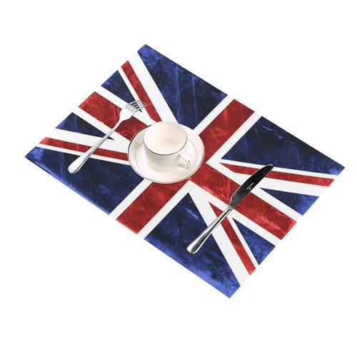 Grunge Union Jack Flag Placemat 14'' x 19'' (Two Pieces)