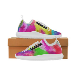 Vibrant Watercolor Ink Blend Dolphin Ultra Light Running Shoes for Women (Model 035)