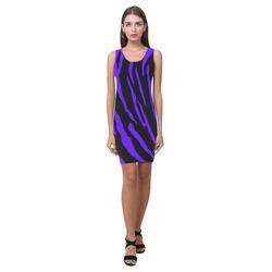 Blue Tiger Stripes Medea Vest Dress (Model D06)