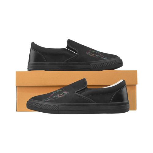 Unillama Women's Unusual Slip-on Canvas Shoes (Model 019)