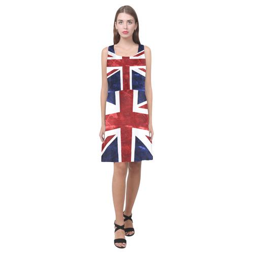Grunge Union Jack Flag Hebe Casual Sundress (Model D11)