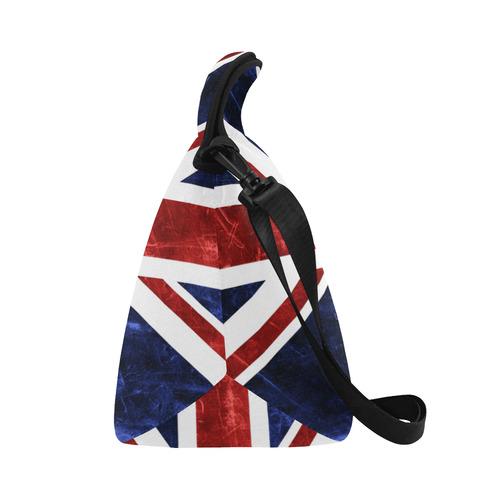 Grunge Union Jack Flag Neoprene Lunch Bag/Large (Model 1669)