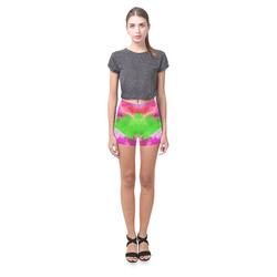 Vibrant Watercolor Ink Blend Briseis Skinny Shorts (Model L04)