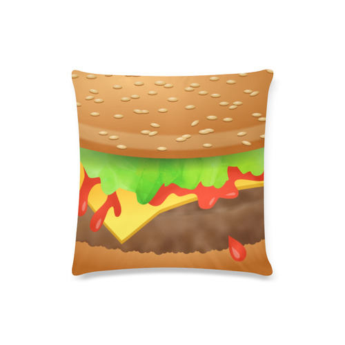"""Close Encounters of the Cheeseburger Custom Zippered Pillow Case 16""""x16""""(Twin Sides)"""