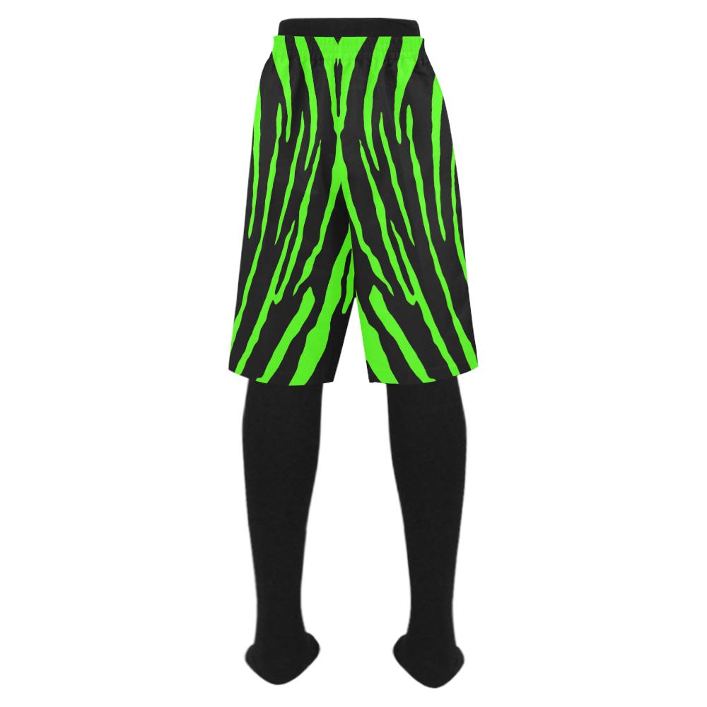 Green Tiger Stripes Men's Swim Trunk (Model L21)
