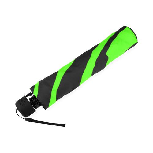 Green Tiger Stripes Foldable Umbrella (Model U01)