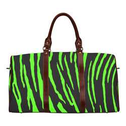 Green Tiger Stripes Waterproof Travel Bag/Small (Model 1639)