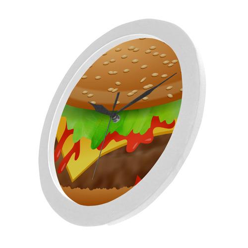 Close Encounters of the Cheeseburger Circular Plastic Wall clock