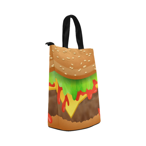 Close Encounters of the Cheeseburger Nylon Lunch Tote Bag (Model 1670)