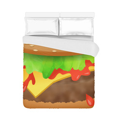 "Close Encounters of the Cheeseburger Duvet Cover 86""x70"" ( All-over-print)"