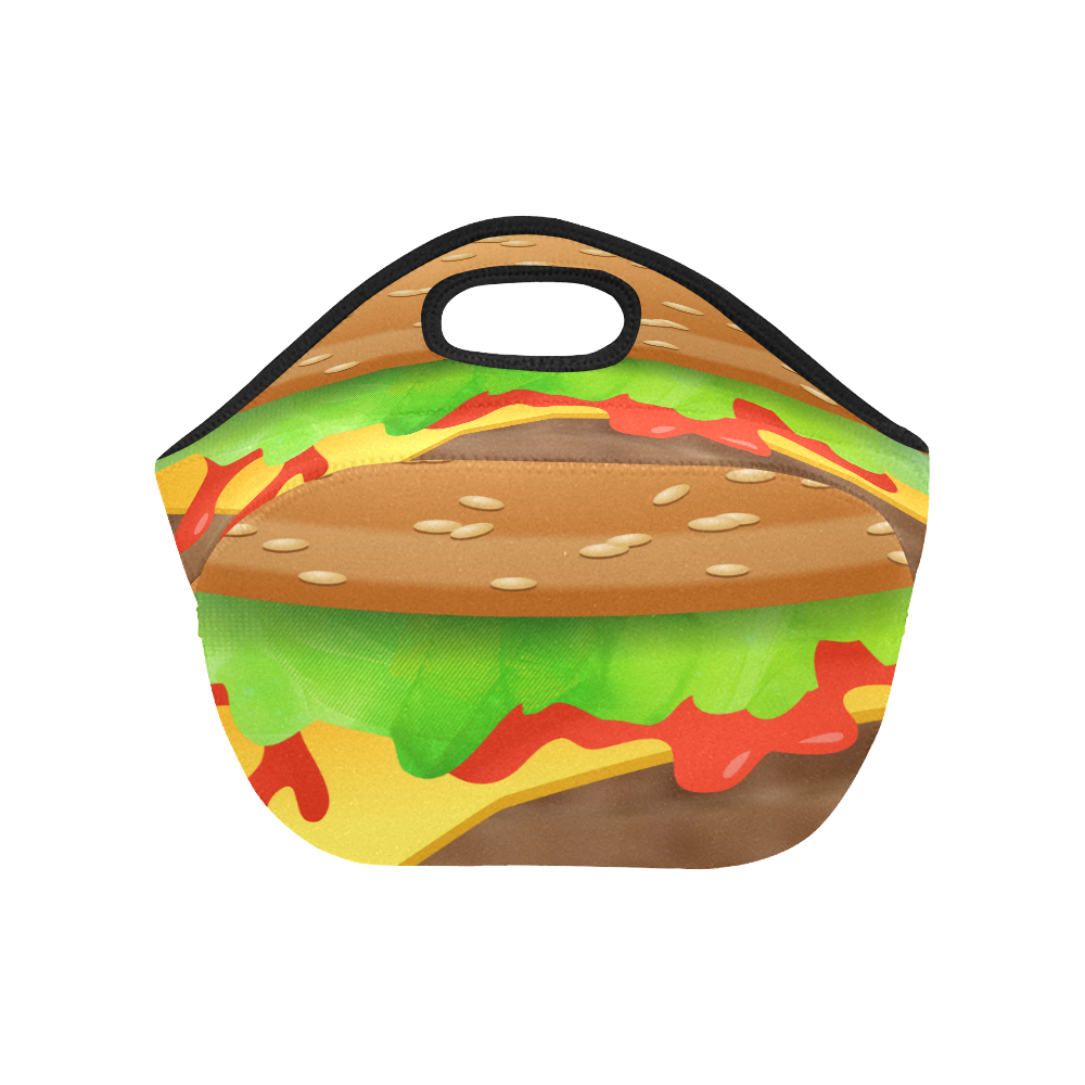 Close Encounters of the Cheeseburger Neoprene Lunch Bag/Small (Model 1669)