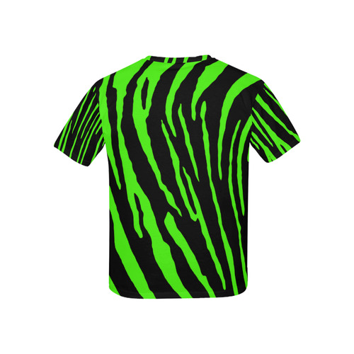 Green Tiger Stripes Kids' All Over Print T-shirt (USA Size) (Model T40)