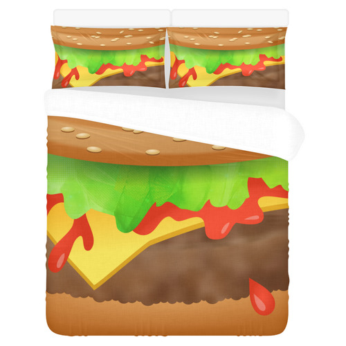 Close Encounters of the Cheeseburger 3-Piece Bedding Set
