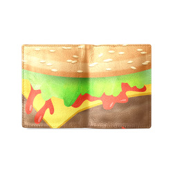 Close Encounters of the Cheeseburger Men's Leather Wallet (Model 1612)