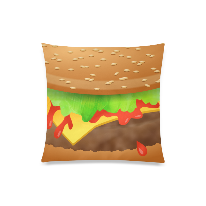 """Close Encounters of the Cheeseburger Custom Zippered Pillow Case 20""""x20""""(One Side)"""