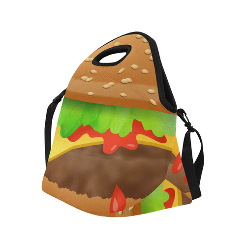 Close Encounters of the Cheeseburger Neoprene Lunch Bag/Large (Model 1669)