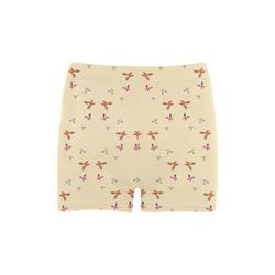 FANTASTIC BUTTERFLIES YELLOW Briseis Skinny Shorts (Model L04)