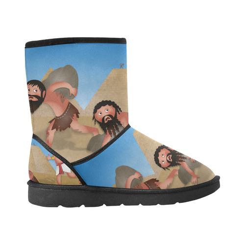 Jewish Slaves in Egypt Custom High Top Men's Snow Boots (Model 047)