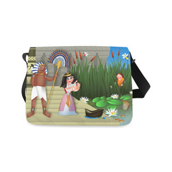 Baby Moses & the Egyptian Princess Messenger Bag (Model 1628)