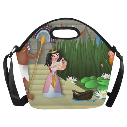 Baby Moses & the Egyptian Princess Neoprene Lunch Bag/Large (Model 1669)