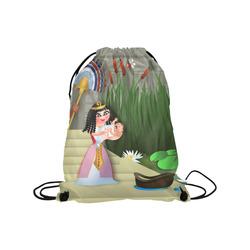 "Baby Moses & the Egyptian Princess Medium Drawstring Bag Model 1604 (Twin Sides) 13.8""(W) * 18.1""(H)"