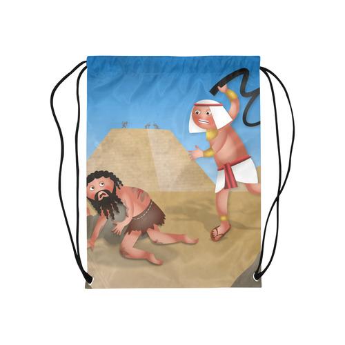 "Jewish Slaves in Egypt Medium Drawstring Bag Model 1604 (Twin Sides) 13.8""(W) * 18.1""(H)"