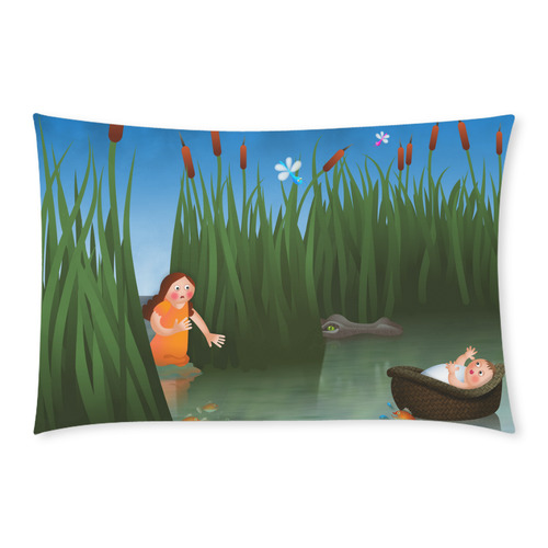 Baby Moses on the River Nile 3-Piece Bedding Set