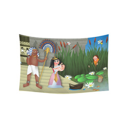 """Baby Moses & the Egyptian Princess Cotton Linen Wall Tapestry 60""""x 40"""""""