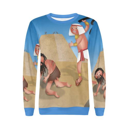 Jewish Slaves in Egypt All Over Print Crewneck Sweatshirt for Women (Model H18)