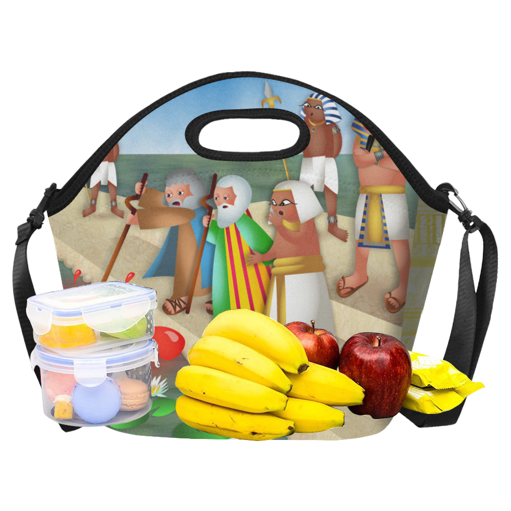 Passover & The Plague of Blood Neoprene Lunch Bag/Large (Model 1669)