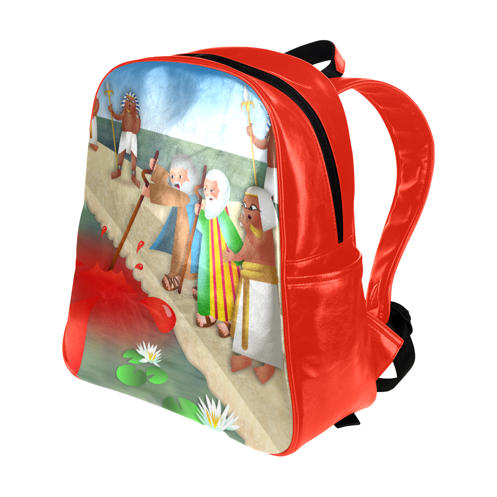Passover & The Plague of Blood Multi-Pockets Backpack (Model 1636)