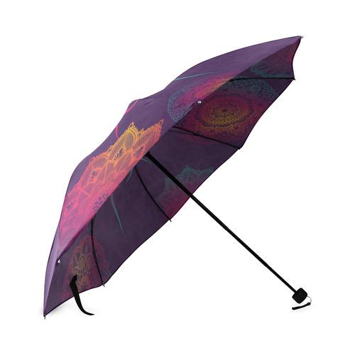 Hamsa Colorful Mandala Foldable Umbrella (Model U01)