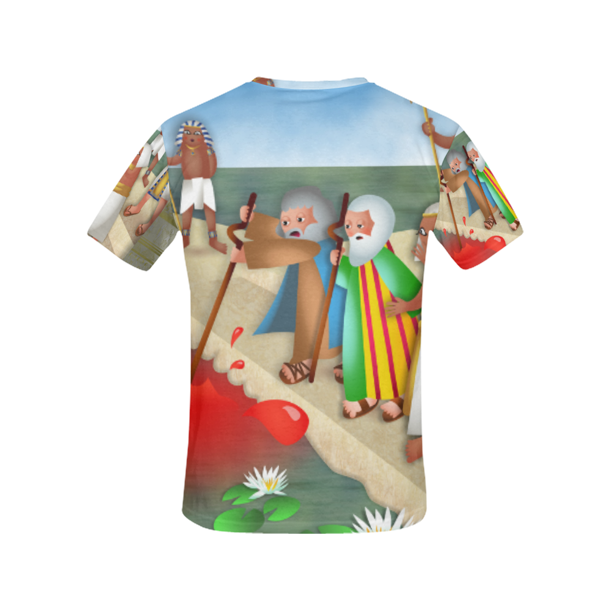 Passover & The Plague of Blood All Over Print T-Shirt for Women (USA Size) (Model T40)