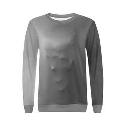 Break Through Creepy Skull All Over Print Crewneck Sweatshirt for Women (Model H18)