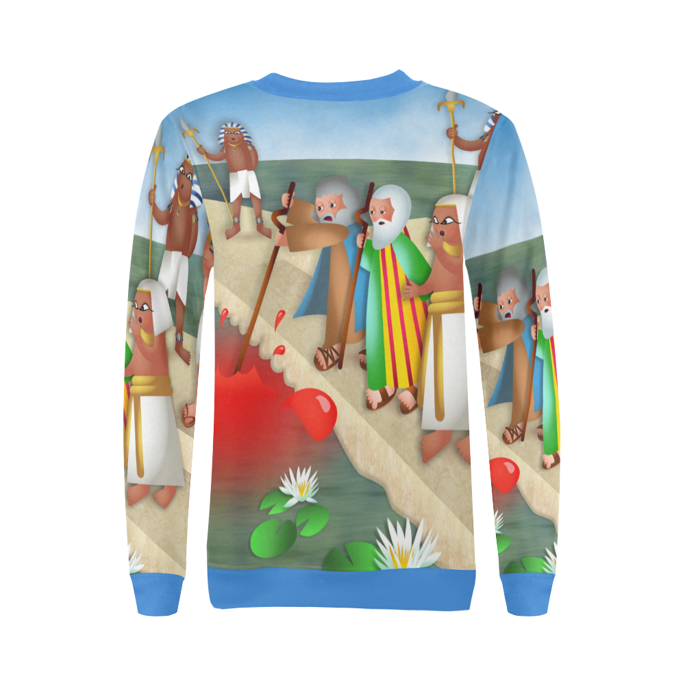 Passover & The Plague of Blood All Over Print Crewneck Sweatshirt for Women (Model H18)