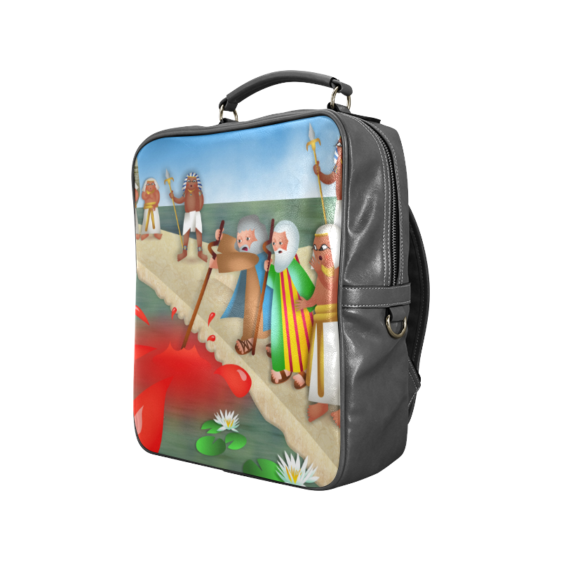 Passover & The Plague of Blood Square Backpack (Model 1618)