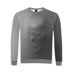 Break Through Creepy Skull All Over Print Crewneck Sweatshirt for Men/Large (Model H18)