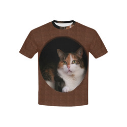 The Kitty In The Hole Kids' All Over Print T-shirt (USA Size) (Model T40)