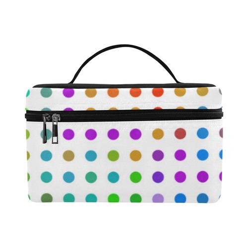 Retro Rainbow Polka Dots Lunch Bag/Large (Model 1658)