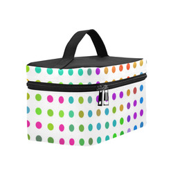 Retro Rainbow Polka Dots Lunch Bag/Large (Model 1658)