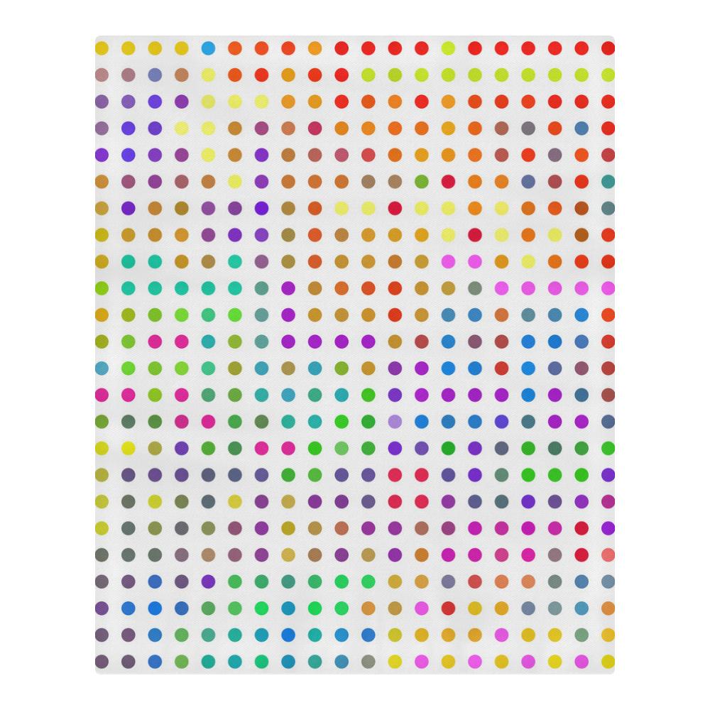 Retro Rainbow Polka Dots 3-Piece Bedding Set