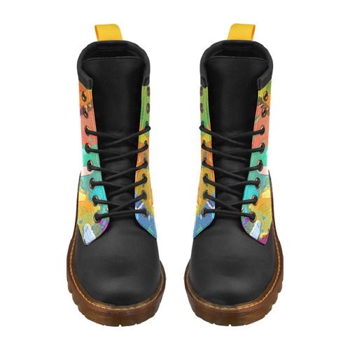 So Much Colors High Grade PU Leather Martin Boots For Men Model 402H