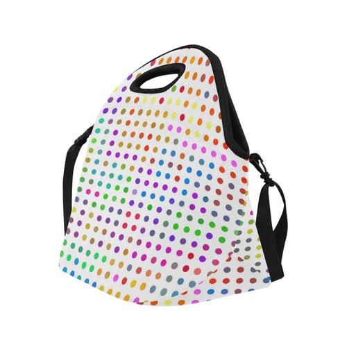 Retro Rainbow Polka Dots Neoprene Lunch Bag/Large (Model 1669)