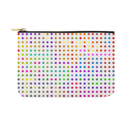 Retro Rainbow Polka Dots Carry-All Pouch 12.5''x8.5''