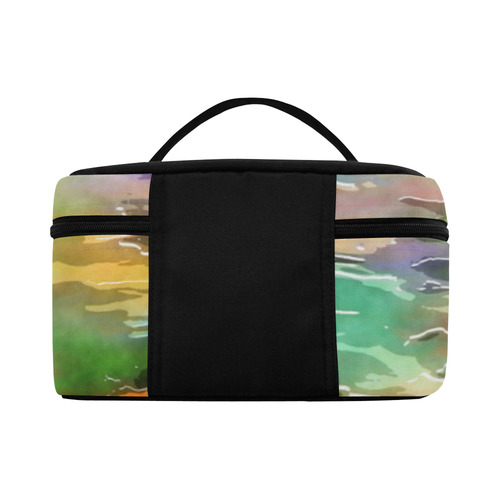 Watercolor Paint Wash Cosmetic Bag/Large (Model 1658)