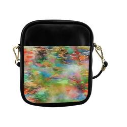 Watercolor Paint Wash Sling Bag (Model 1627)